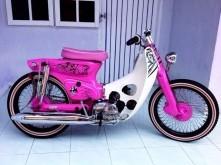 本田萌物:C70粉色机车